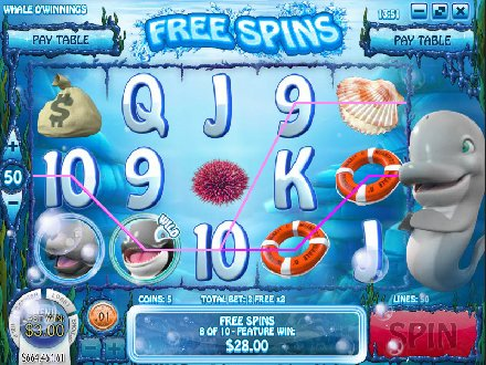Play Whale O Winnings Slot Machine Free with No Download